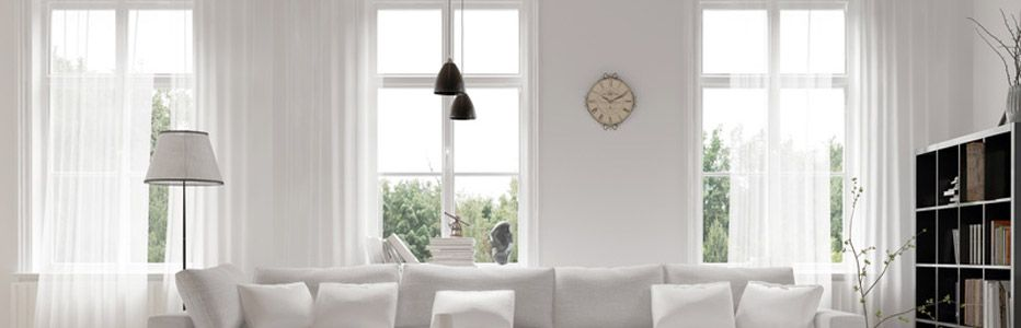 Wohnung mit neu eingebauten Fenstern