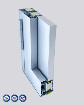 Aluminium-Eingangstür Heroal92