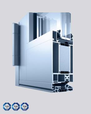 Aluminium-Eingangstür Heroal72